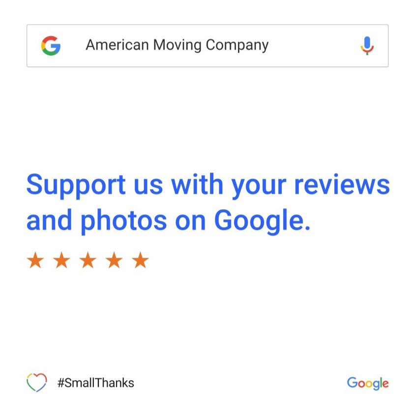 Support American Moving Company with Reviews and Photos on Google