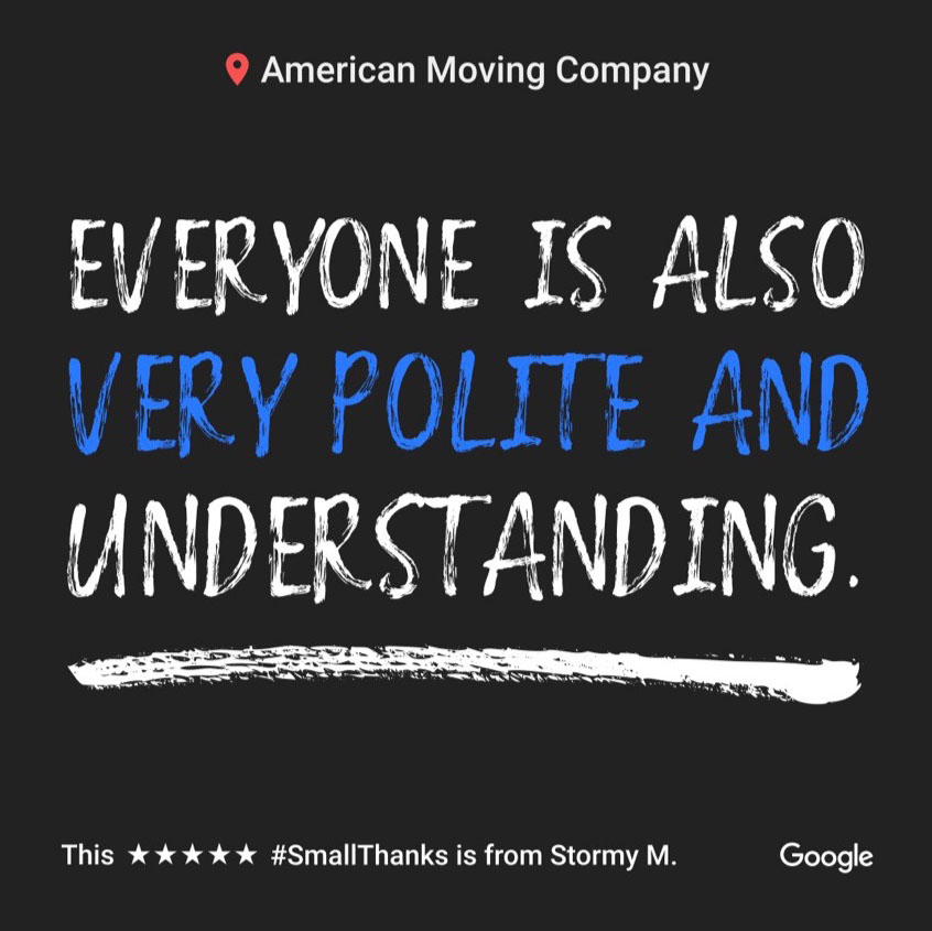 Customer Review About American Moving Company