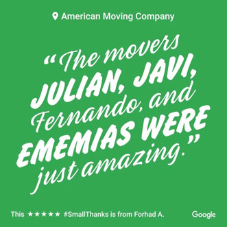 Review About Julian and Javi at American Moving Company